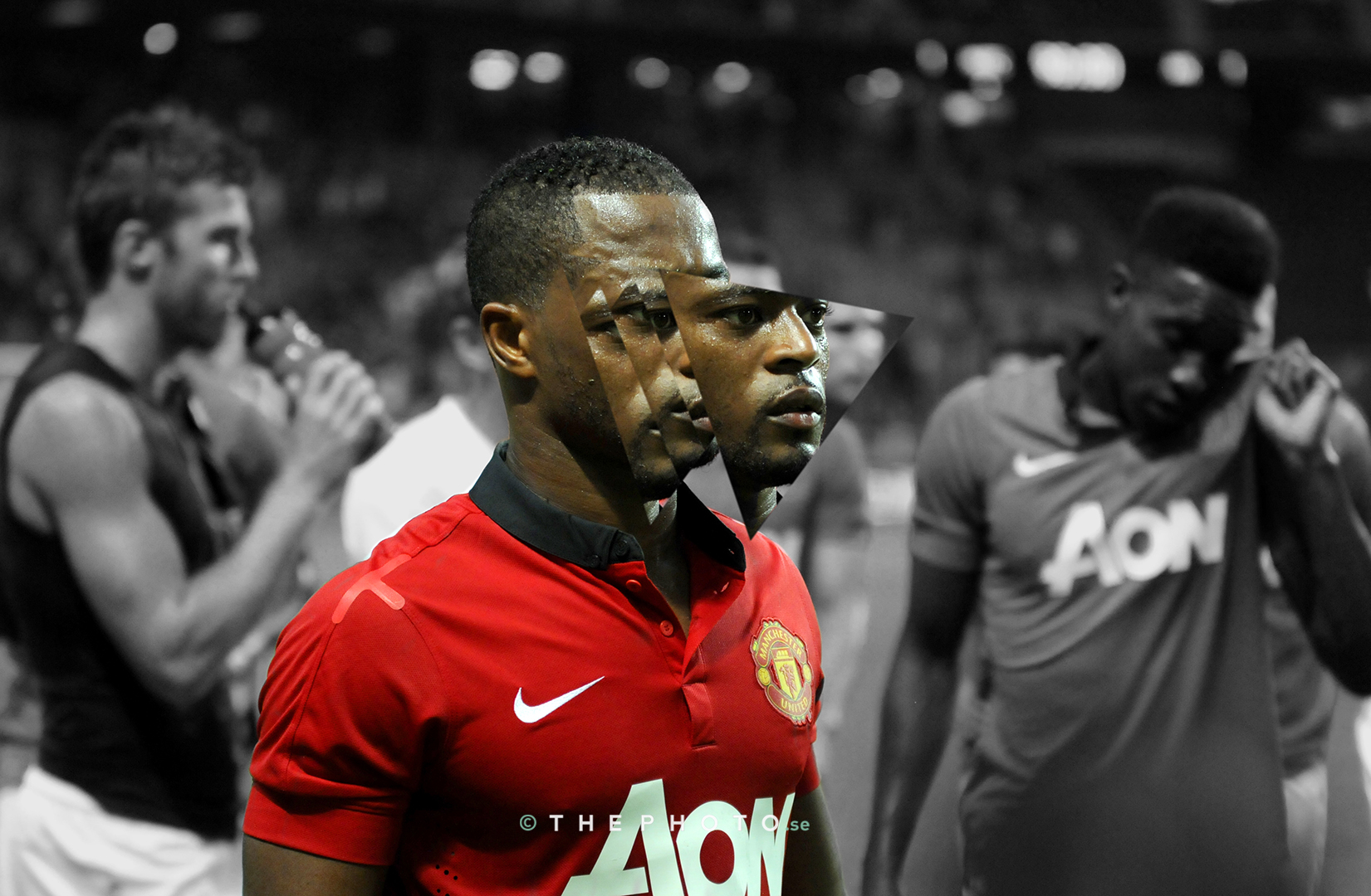 Forevra Red. Patrice Evra's nickname given by Manchester United fans.